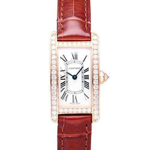 カルティエ Cartier タンク アメリカン ウォッチ SM WJTA0002 シルバー文字盤 中古 腕時計 レディース (W205632) [並行輸入品]