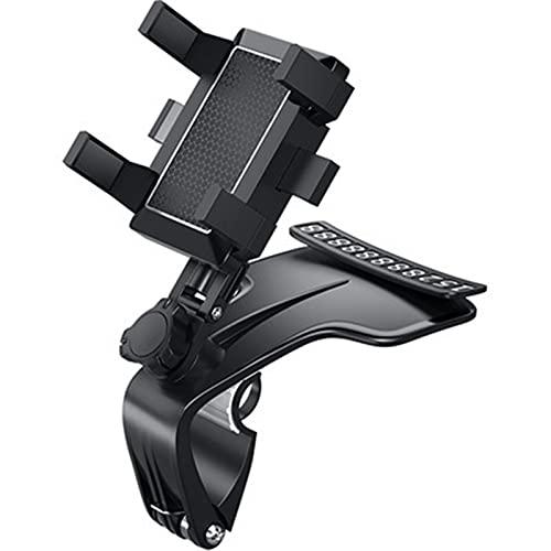 Soporte de teléfono para salpicadero de coche, rotación de 360 grados con clip multifunción universal compatible con iPhone 12 11 Pro Max X XS XR 8 7 6 6s Plus Galaxy Moto y más