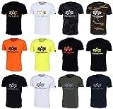 Alpha Industries - Camiseta básica para hombre, diseño de camuflaje, color negro Black Camo M