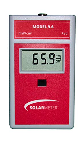 Solar Light Company, Inc Solarmeter Model 9.6 Red Light Meter - Measures from 577-661nm with Range from 0-199.9 mW/cm² Red Light