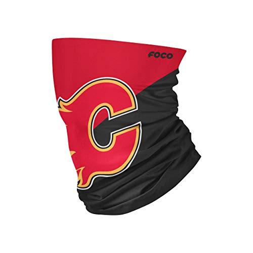 FOCO Calgary Flames NHL Big Logo Gaiter Scarf, Large