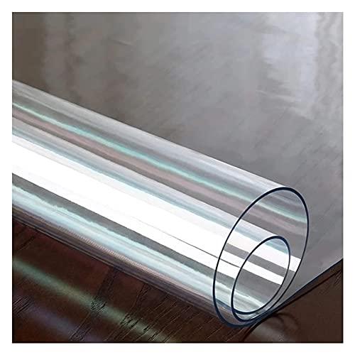 Transparante Vloermat, Alfombrilla Transparente para, Suelo Multifuncional A Prueba De Aceite, Fácil De Limpiar, Impermeable, Personalizable ZWYSL (Color : 3.0MM, Size : 80X130cm)