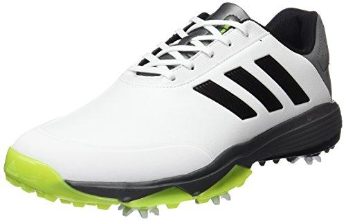 adidas Adipower Bounce WD Golf Schuhe, Herren, Herren, Adipower Bounce Wd, Weiß/Schwarz/Lima, 41.3