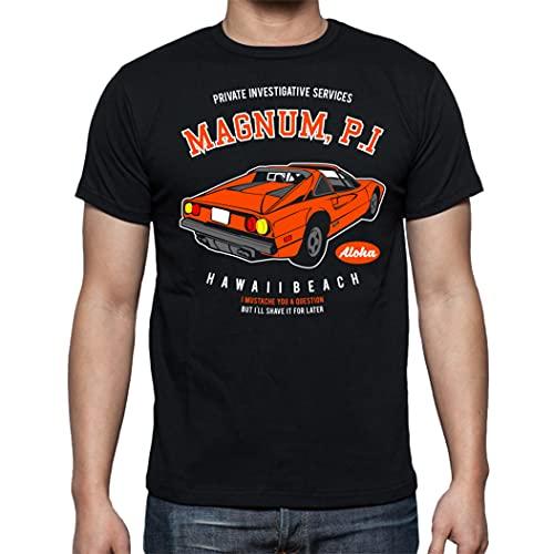 The Fan Tee Camiseta de Hombre Coche Divertida Retro 80 Magnum TV 026 XL