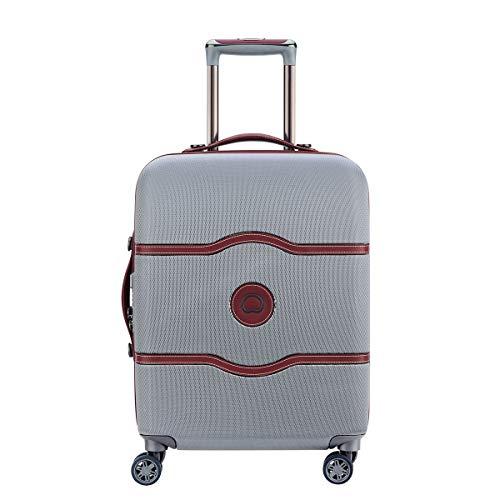DELSEY PARIS CHATELET AIR Luxus Kabinentrolley / Handgepäckkoffer 55cm mit gratis Schuhbeutel und Wäschebeutel 4 Doppelrollen TSA Schloss