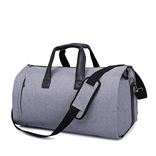 RLJJCS1163 Sports Travel Bag, Business Travel Foldaway Raincoat Oxford Cloth Portable Travel Bag Travel Storage Bag, New Suit Bag (Color : New Grey)