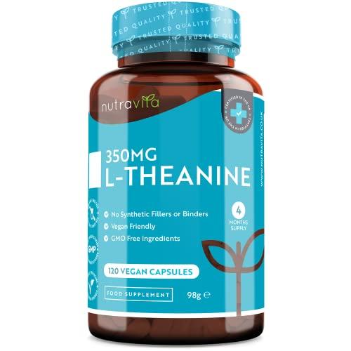 L-teanina 350mg - 120 capsule vegane - Scorta per...