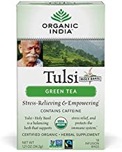 ORGANIC INDIA Tulsi Green Tea, Fair Trade (6 Pack)