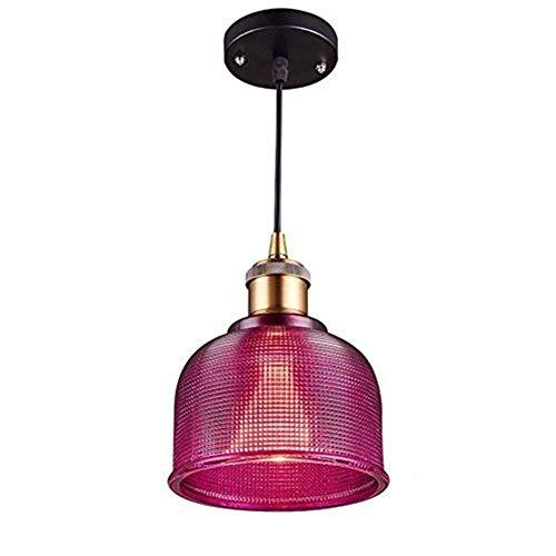 OUPPENG retro Europea Luces pendientes, colorido retro lámpara de cristal, Restaurante Pasillo de la lámpara, Bar Cafe Tienda de ropa de la lámpara, colgante ajustable Personalidad vivo creativo de lu