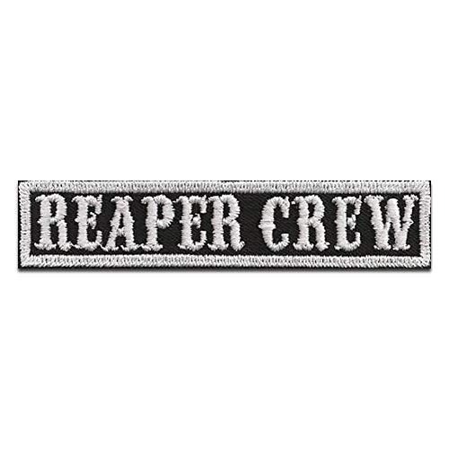 Parches - Biker cotizar frase Reaper Crew - termoadhesivos bordados aplique para ropa