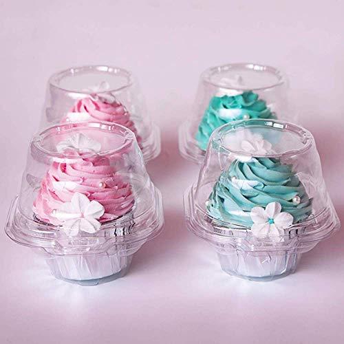 GuangZhou Cajas individuales para cupcakes transparentes, redondas, con tapa, para cupcakes, mini...