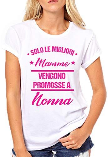 Puzzletee T-Shirt Festa della Mamma Solo Le Migliori Mamme vengono promosse a Nonna - Idea Regalo - Mother's Day