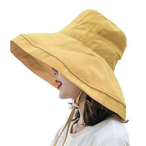 yelesley Women's Foldable Flap Cover UV Protective Wide Brim Bucket...
