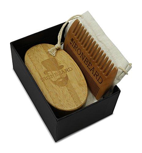 Gentlemens Bartbürste und Kamm Bartpflege Geschenk-Set  Abbildung 2