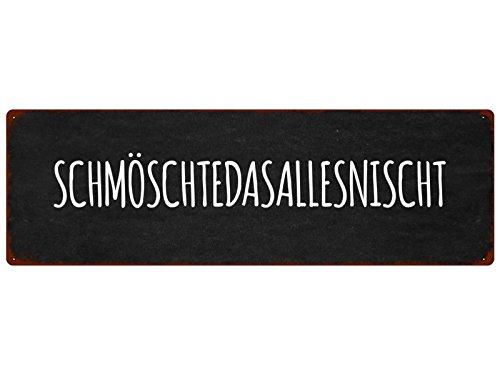 Interluxe METALLSCHILD Türschild SCHMÖSCHTEDASALLESNISCHT Lustig Spruch Vintage Dekoration