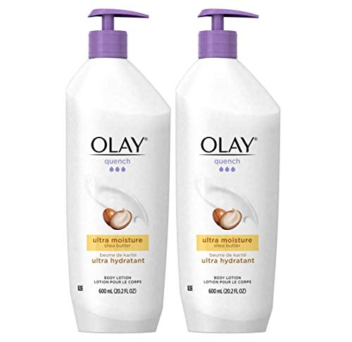 Olay Quench Body Lotion Ultra Moisture with Shea Butter and Vitamins E and B3, 20.2 oz (Pack of 2)