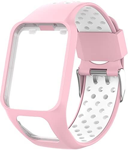 Gransho Bracelete compatível com TomTom Spark / Spark 3 / Runner 2 / Runner 3 / Golfer 2 / Adventurer Bracelete Para Relógio, Bracelete Ajustável de Reposição Bracelete desportiva de Silicone (Pattern 3)