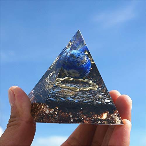 Bestiny Pirámide de orgonita de cristal de amatista, pirámide de orgonita para yoga, meditación, obras de arte