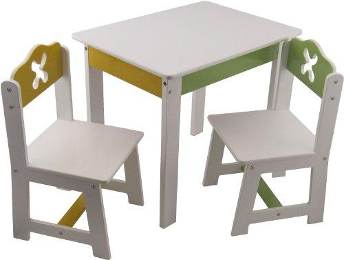 Bieco 4939200 - tafel met 2 stoelen, wit
