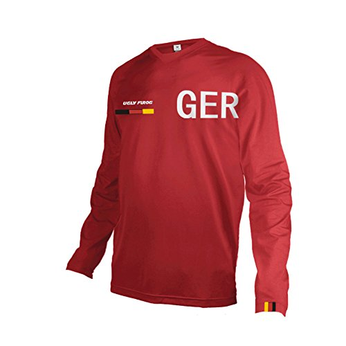 Uglyfrog Herren Sommer&Frühling Lange Ärmel V-Kragen Motorsport Motorrad Moto Cycling Racing Racer T-Shirt