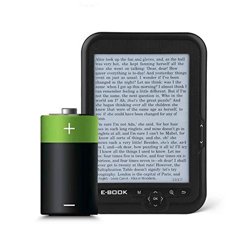6'' Papel Electrónico Portátil Resolución de 800x600+Reproductor de Audio, Libros Electrónicos con Pantalla de Tinta Electrónica Disponible en 29 idiomas con Auriculares & Funda, 16/8/4GB(Negro 8g) miniatura