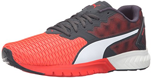PUMA Men's Ignite Dual Running Shoe Red Blast/Asphalt 7 M US
