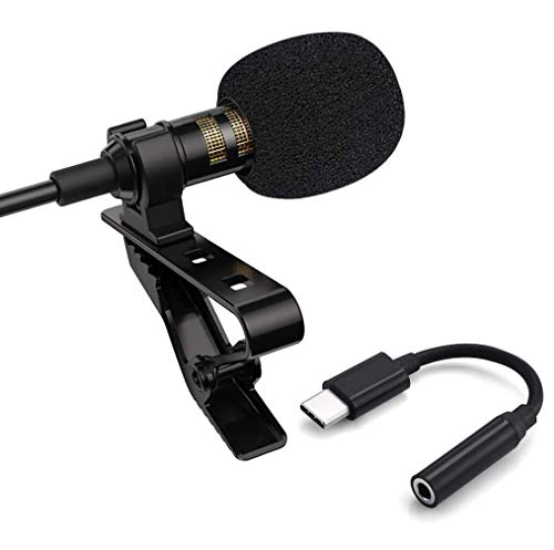 Enraciner [ 2in1 Youtuber/Vlogger/Beginner Streaming Kit ] Lavalier Metal Microphone 3.5mm Also Support Type C Smartphones - 1+1 Year Warranty Festive Offer