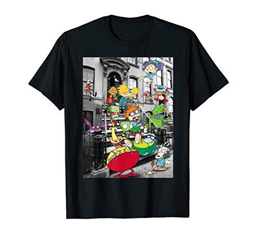 Nickelodeon Classic Nicktoons Hanging On Stoop T-Shirt T-Shirt