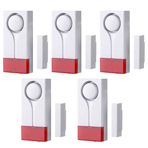 KADDGN Universal-Tür/Fenster Alarm mit Vibration und Magnet-Sensor - Türalarm mit lautem 105db Ring