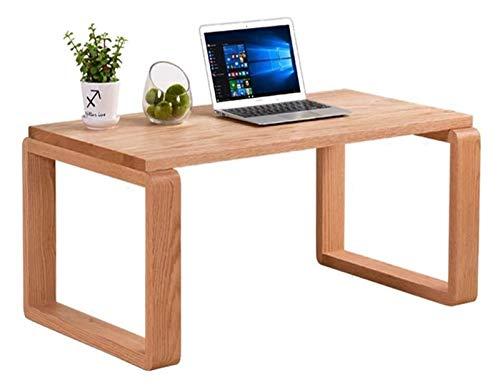 Mesa de ceremonia de té de mesa de té de mesa baja, Escritorio de computadora para altura de tatami, café tatami, café sólido simple, té de estilo japonés Pequeño cuadrado, balcón de madera maciza baj