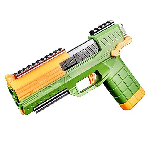 MINGJ Pistolas de Espuma de Juguete, Pistola de Juguete para niños de Material de Nailon, 20 Balas de Esponja, Gafas, niños,Green