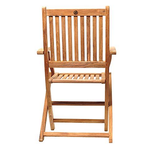 Amazonia Teak London 2-Piece Teak Folding Armchair