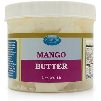 Raw Mango Butter - 100% Pure - Cold Pressed - Raw Mango Butter - Making Lip Balm - Lotion - Cream 1 lb Jar HalalEveryday ®