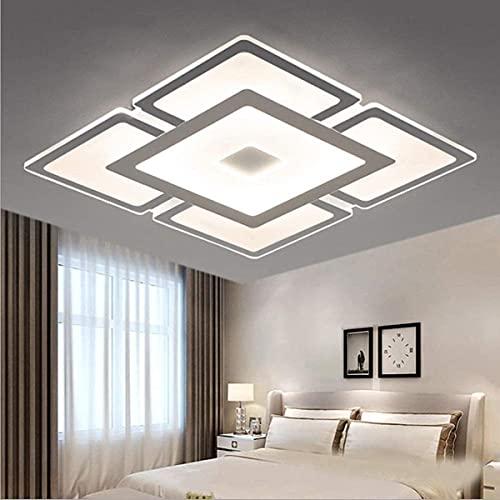 LED Empotrado empotrado Luminaria Nordic Ultra-delgada cerca de la lámpara de techo Sala de estar Dormitorio Sala Comedor Interior Cuadrado Araña Acrílico