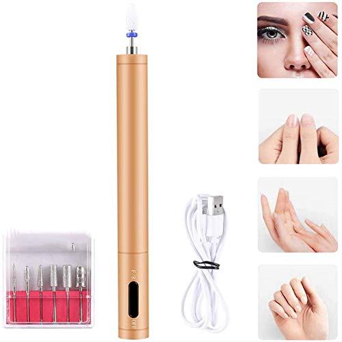 QIYE Elektrische Nagelfeile, Elektrisches Maniküre, Elektrische Nagelfräser Maniküre Set, Polierwerkzeuge Nagelknipser Set, für Kallus Entfernen