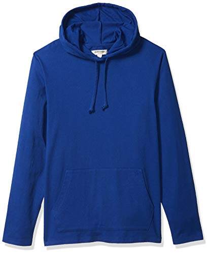 Amazon Brand - Goodthreads Men's Soft Cotton Long-Sleeve Pullover Hoodie T-Shirt, Bright Blue, Medium