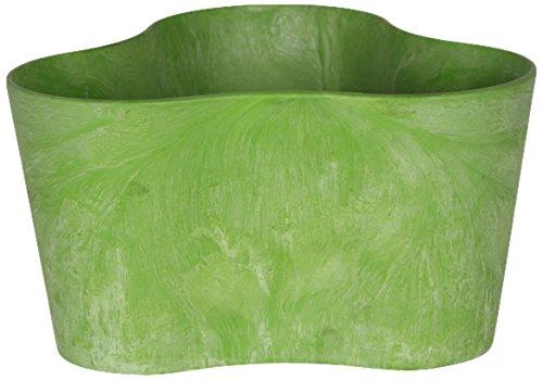 Artstone Vaso da fiori, per piante trio Claire, resistente al gelo e leggero, Verde limone, 20x11cm