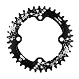 EASTERN POWER Corona 34T BCD 104, 32T Corona Singola per Bicicletta, Corona 34 Denti 104 mm MTB in Alluminio per Mountain Bike, Nero