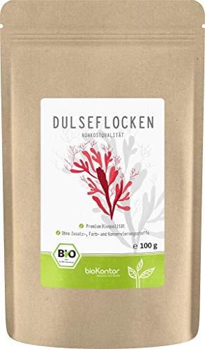 BIO Dulseflocken | Dulse - Algen - Lappentang | 100% naturrein - getrocknet | Rohkostqualität | aus Frankreich / Atlantik von bioKontor 100g