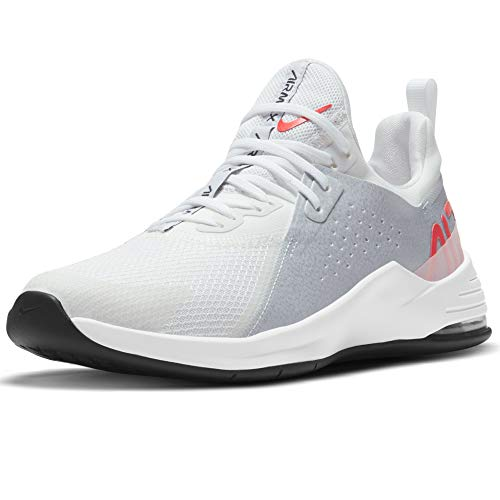 Nike Wmns Air MAX Bella TR 3, Zapatillas Deportivas Mujer, White BRT Crimson Football Grey Arctic Punch Dk Smoke Grey White, 41 EU