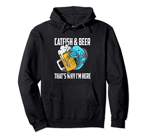 Pez Gato Pesca Pez Gato Y Cerveza Por Eso Estoy Aquí Sudadera con Capucha