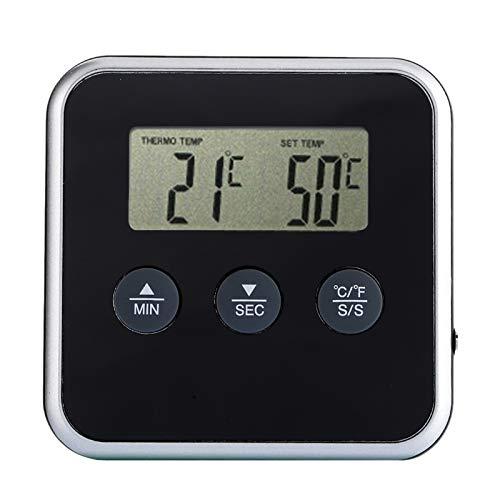 Gaoominy Termómetro digital de lectura instantánea, temporizador de cocina, barbacoa y carne, termómetro con sonda remota, indicador de temperatura del horno