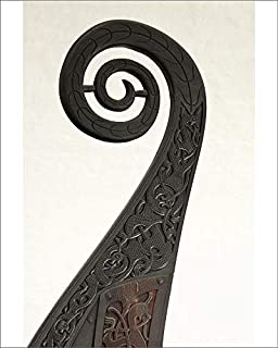 10x8 Print of Detail of Carved Prow on The Viking Ship, Oseberg, a 9th Century Burial Ship (5924782)