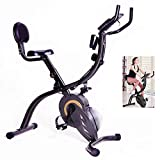 Lunchbox.com Bike Home Trainer,Exerpeutic Folding Magnetic Upright Bike,Bicycle Trainer Maximum Weight Capacity of 120 Kg,Black