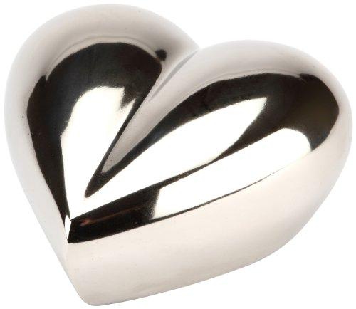 Urns UK Margate - Urna de Aluminio (7,6 cm), diseño de corazón, Color Plata