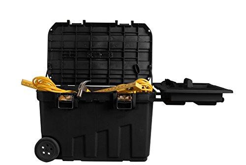 Stanley 1-92-978 Gereedschapskist (76,8 x 49 x 47,6 cm, mobiele box voor gereedschappen, hoog volume van 90 l, gereedschapsopslag met metalen sluitingen, uitneembare opbergruimte