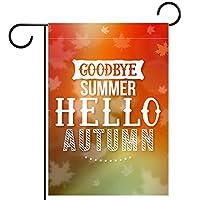 ガーデンサイン庭の装飾屋外バナー垂直旗さようなら夏こんにちは夏 オールシーズンダブルレイヤー