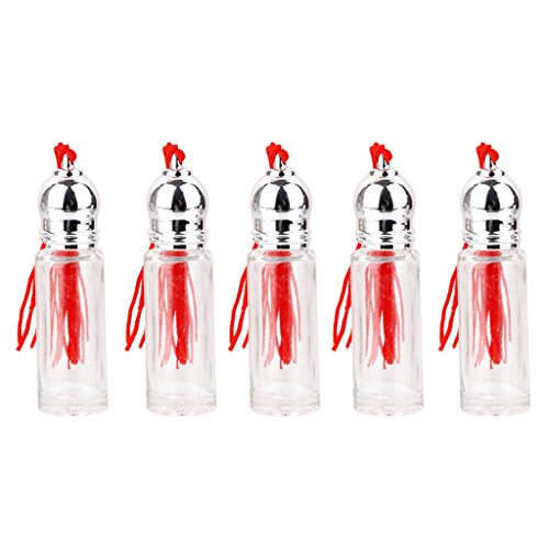 5x Rouleau Vide sur Boule de Recharge de Rouleau Cylindres de Parfum de Parfum 5ml