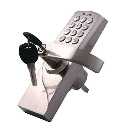 WJGJ Elektronische Code Türschloss,Türschlösser Mit Keypads, Tastatureingabe Mit Und Akzente Levers, Elektronische-Code Türschloss Smart-Digital-Tastatur Passwort Tastensperre Edelstahl