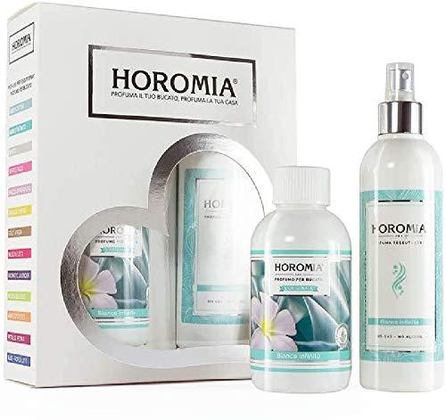 Horomia Horotwins Bianco Infinito Set Di Profuma Bucato E Deotessuti Spray - 500 Ml